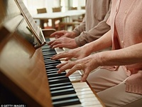 Adult Enjoying Piano, Pan, Movement Class