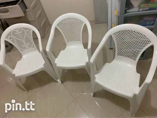Plastic Chairs In Good Condition-2