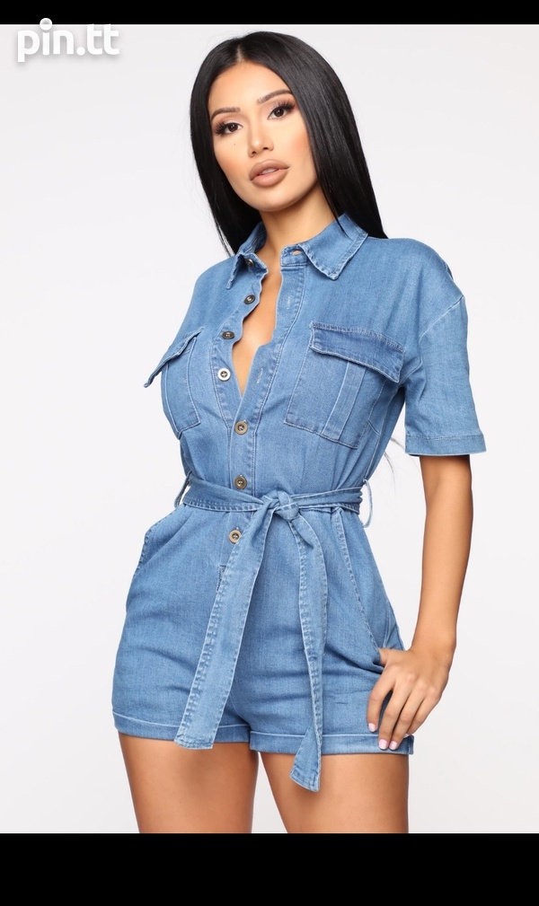 Denim Romper-1