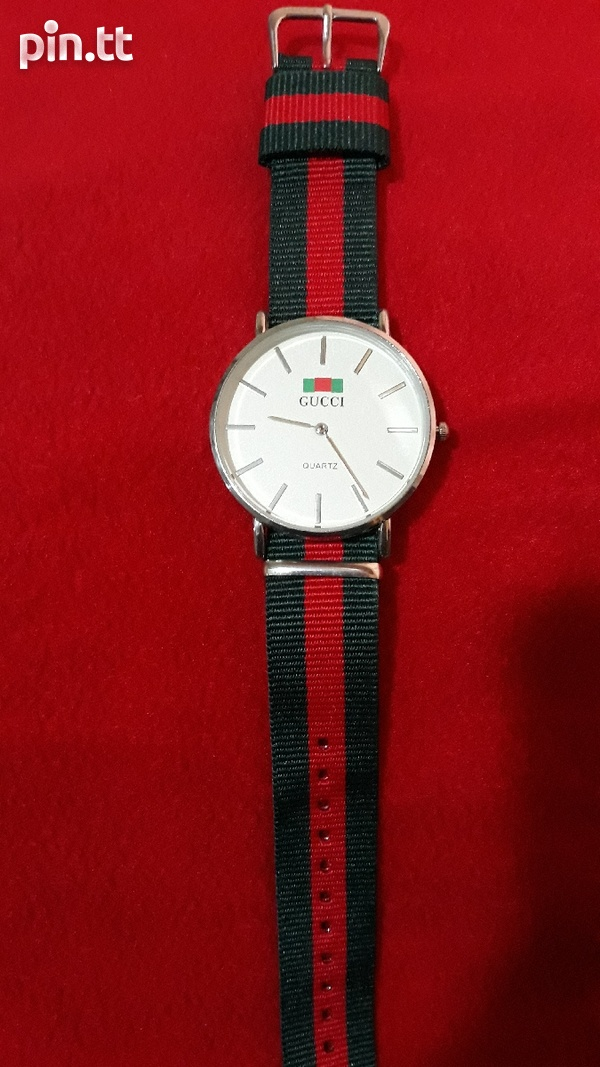 White Gucci Watch Unisex-2