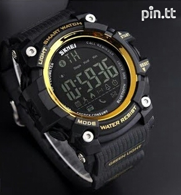 Waterproof Bluetooth Smart Watch G-Shock style, works with any phone-1