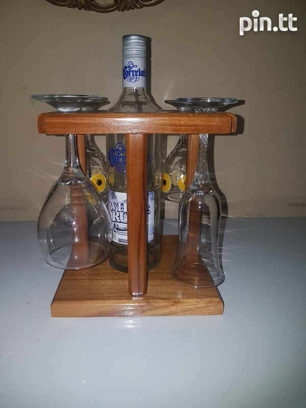 Wine Glass And Bottle Holder-4