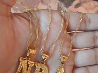 Gold plated letter chains