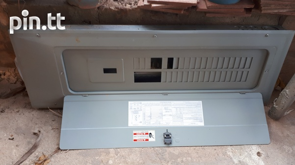 2 electrical panel boxes 1 new 1 used-2