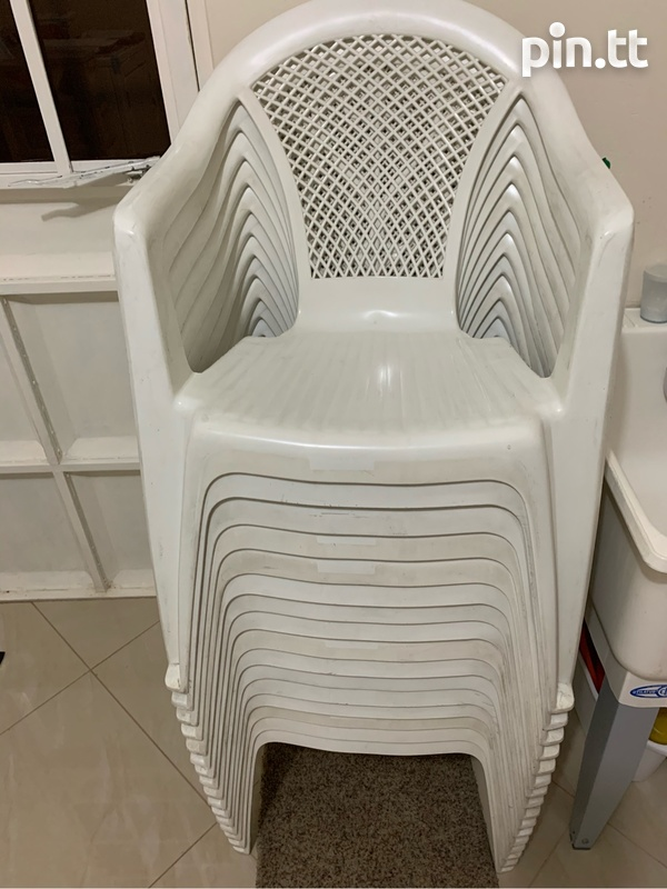 Plastic Chairs In Good Condition-1