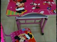Kids character adjustable table and chair