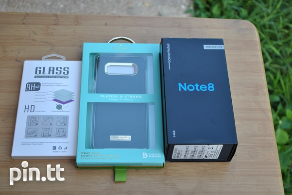 New Samsung Note 8 with Kate spade case, tempred glass and 96GB space-8