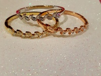 18 karrot Brazilian gold plated white gold an rose gold bracelets