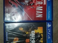PS4 Games , Spider-Man and Call of Duty Black Ops 4