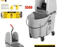Rubbermaid Commercial Mop Bucket- Executive Series With Wave Break