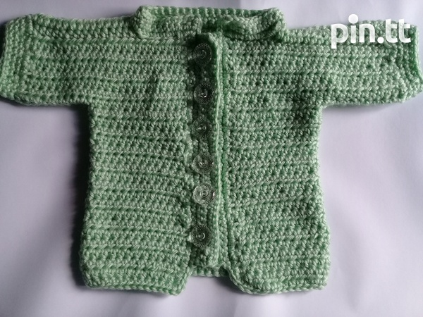 Link Me Nella - Crochet baby Sweater 0-5mths-2