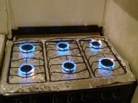 6 burner magnum stove short time use