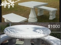 Concrete table set