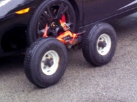 Complete dolly wheels for towing