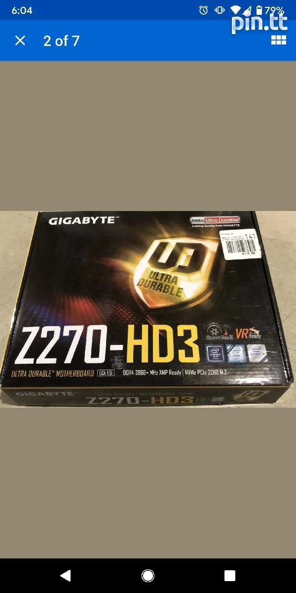 GIGABYTE MOTHERBOARD AND CPU COOLER ALONE.-1