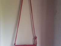 Red crossover bag for ladies