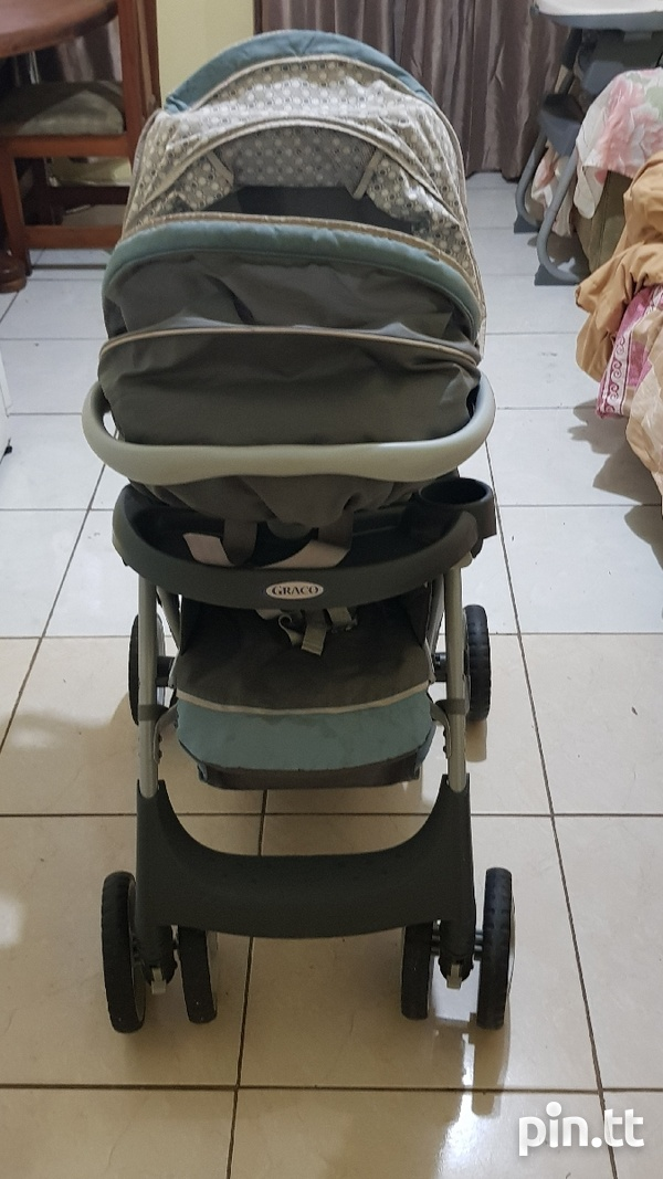 Used Graco Car Seat and Stroller-5