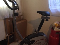 Stationary bike with digital monitor