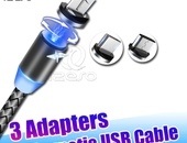 3 Adapters magnetic USB cable