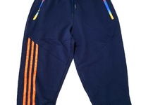 Navy Blue Striped 3/4 Joggers