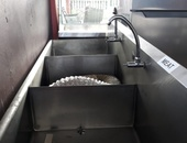Commercial sink 3 compartment