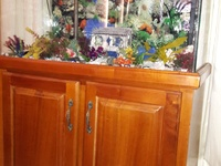 Aquarium and Wooden Cabinet 18x36x52
