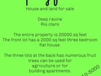 3 Bedroom Rio Claro House and Land