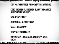 SEA/CSEC Classes