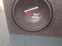 Speaker audio pipe 500 watts single coil 10 inch.