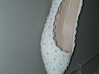 Women beaded shoe