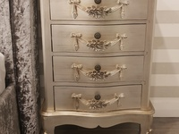 2 x Bedside tables with four drawers