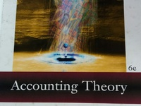 Accounting theory. University text book