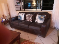 Genuine Leather 2pc couch set
