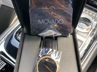 Movado museum leather