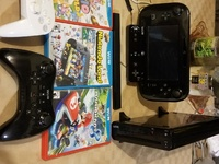 Nintendo wii u, with 3 games