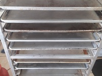 20 rack commercial baking tray trolley with 9 trays