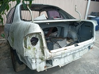 AE110/111 BARE 3/4 back with hood, 2 rear door shells and suspension