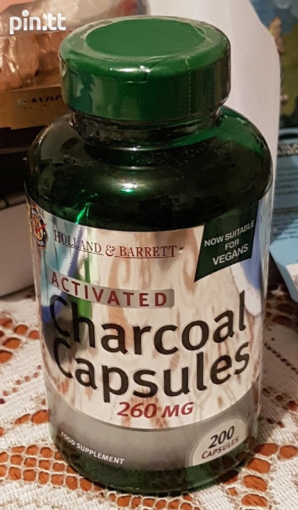 NEW SEALED Activated Charcoal capsules-1