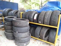 Tyre equipment, supplies, tyre rack plus more