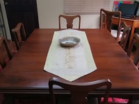 6 seater solid wood dining table