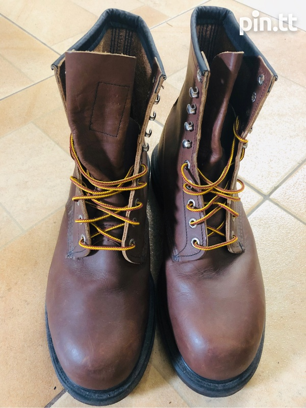 Red wing steel toe boots-1