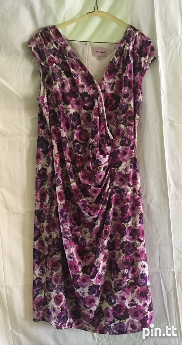 Floral Patterned wrap-like dress-1
