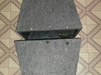 A pair of 8inch speakers in flare boxes.