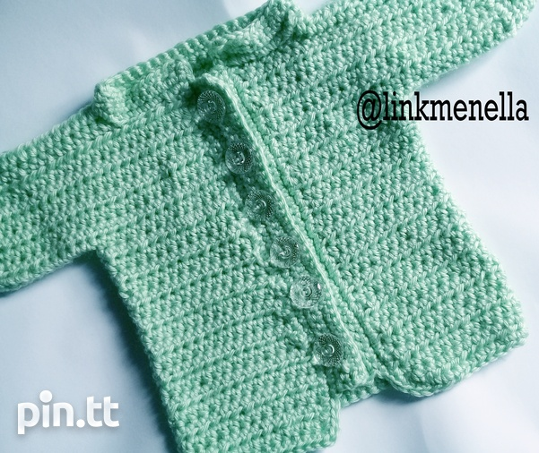 Link Me Nella - Crochet baby Sweater 0-5mths-1