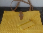 Textured Handle Bags with carrying purse