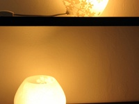 Handmade Etched Glass Lamp x2