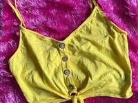 Button Up Tie Front Cami