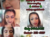 Makeup services for all Christmas events