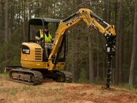 Mini excavator rentals and auger piling