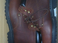 Brown steeltip boots never used